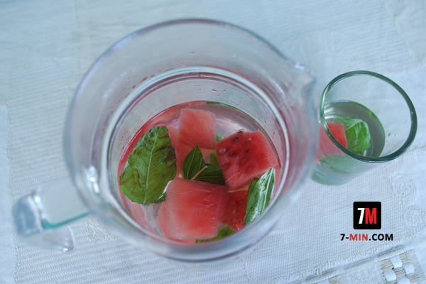 Watermelon and Basil Infused Water