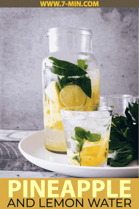 Pineapple and Lemon Detox Water