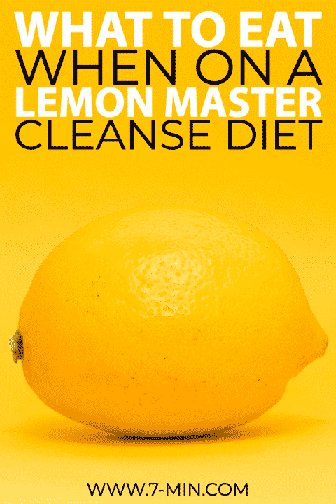 Part 3: What to eat when on a lemon master cleanse diet 1